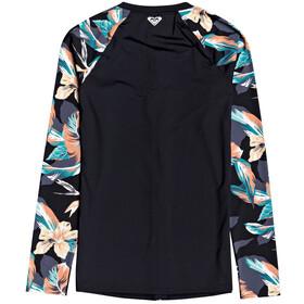Roxy Fashion Lycra Zip Long Sleeve Rashguard Women, anthracite tropicoco s
